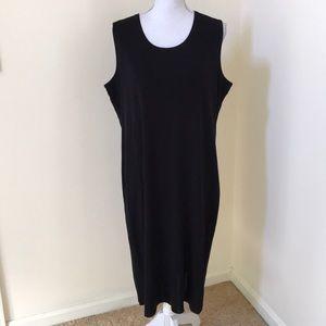 Misook size 1X black classic knit sleeveless dress